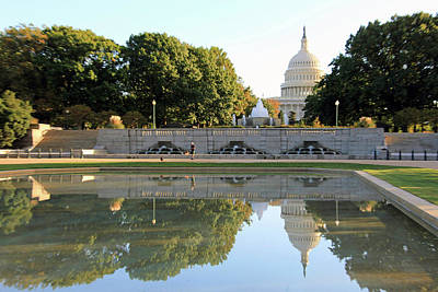 Photograph - North Side Of The United States Capitol With Reflections by Cora Wandel