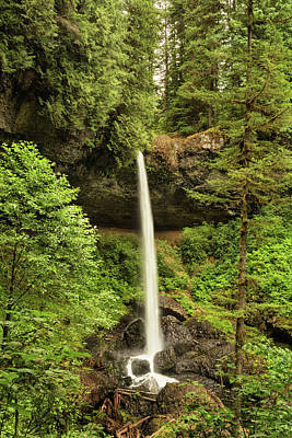 Photograph - North Silver Falls by Mary Jo Allen