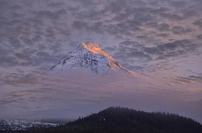 Mckenzie Pass Photograph - North Sister Sunset by Christian Heeb