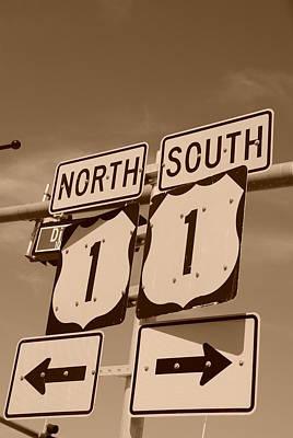 North South 1 Art Print by Rob Hans