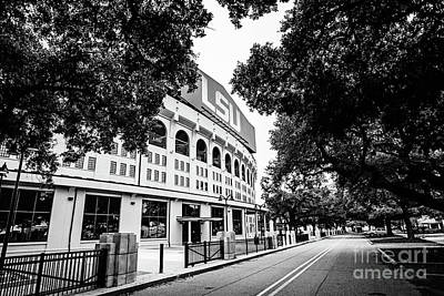 Photograph - North Stadium Road - Bw by Scott Pellegrin