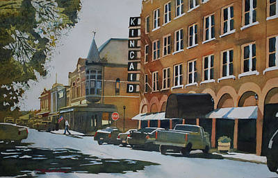 Old Street Painting - North Street - Uvalde, Texas by E M Sutherland
