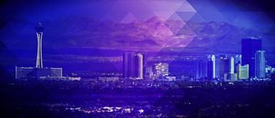 Las Vegas Artist Mixed Media - North Strip by Michelle Dallocchio