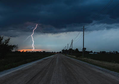 Dirt Roads Photograph - North Talbot Road Lightning by Cale Best
