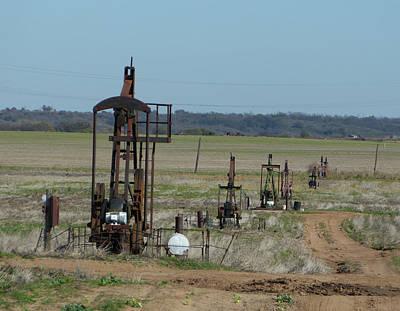 Oil Pumper Photograph - North Texas Shallow Oil Field by Richard Dalton