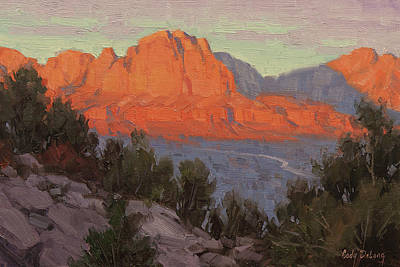 Utah Wall Art - Painting - North To Zion by Cody DeLong