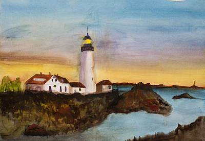 North Truro Light House Cape Cod Art Print by Donna Walsh