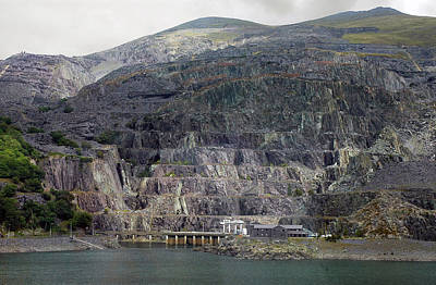 Photograph - North Wales Slate Mine by Dianne Levy