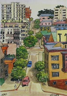 Sanfrancisco Painting - North Wasthington Street by Ronald Thompson