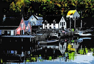 Digital Art - North West Cove Ns. by Bill Linn