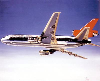 Retro Wall Art - Painting - North West Orient Dc-10-30 by Peter Ring Sr