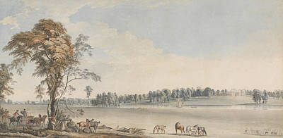 Painting - North West View Of Wakefield Lodge In Whittlebury Forest, Northamptonshire by Paul Sandby