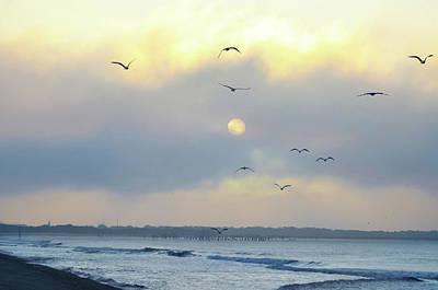 Wildwood Photograph - North Wildwood Beach by Bill Cannon