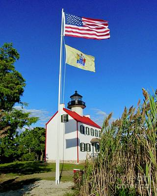 Photograph - North Wind At East Point Light by Nancy Patterson