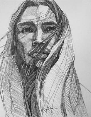 Drawing - North Wind  by Jani Freimann