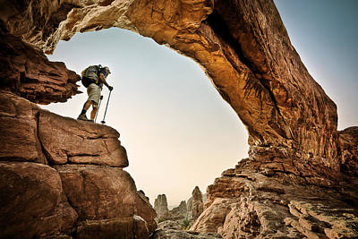 Photograph - North Window Arch 4 by Whit Richardson