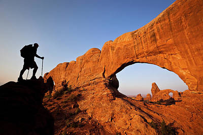 Photograph - North Window Arch by Whit Richardson