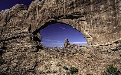 Photograph - North Window, Arches by Gary Shepard