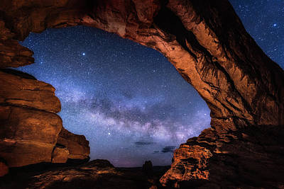 Photograph - North Window Milky Way by Michael Ash