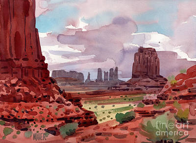 Monument Valley Painting - North Window View by Donald Maier