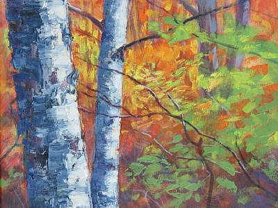 Painting - North Woods Birch by Ken Fiery