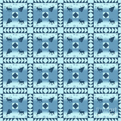 Digital Art - North Woods Pattern by Methune Hively