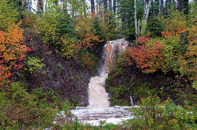 Photograph - North Woods Waterfall by Steve Stuller