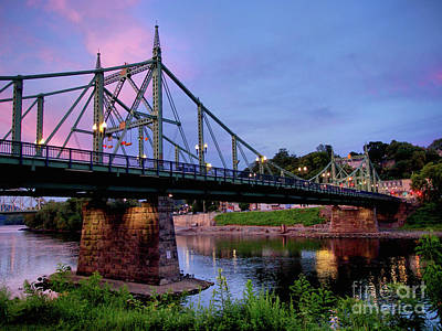Photograph - Northampton Street Bridge At Sunset by Mark Miller