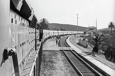 Photograph - Northbound Amtrak Coast Starlight, Early Days, San Luis Obispo, California by Frank DiMarco