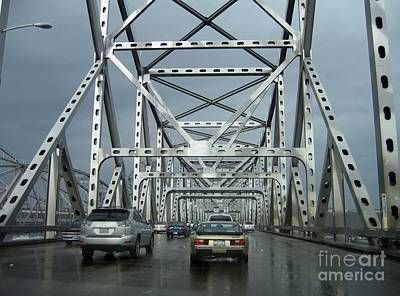 Photograph - Northbound Carquinez Bridge by James B Toy