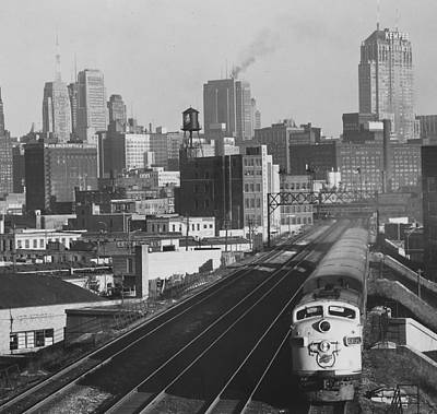 Photograph - Northbound Diesel Train - 1962  by Chicago and North Western Historical Society