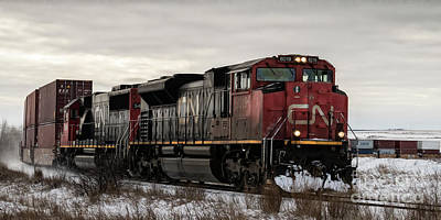 Photograph - Northbound Double Stack by Brad Allen Fine Art
