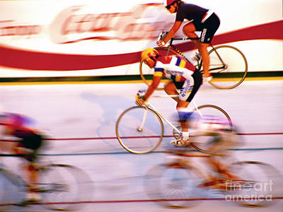 Photograph - Northbrook Velodrome Bicycle Racing by Tom Jelen