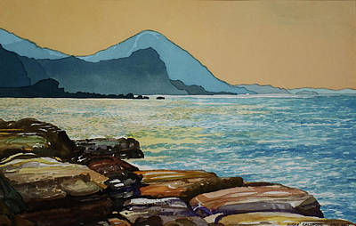 Painting - Northeast Coast Of Taiwan by Andre Salvador