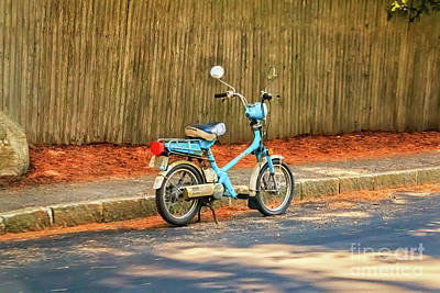 Photograph - Northeast Harbor Scooter by Elizabeth Dow