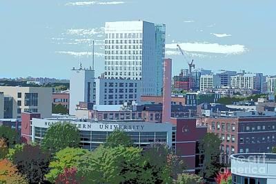 Northeastern University Photograph - Northeastern University by Tom Maxwell