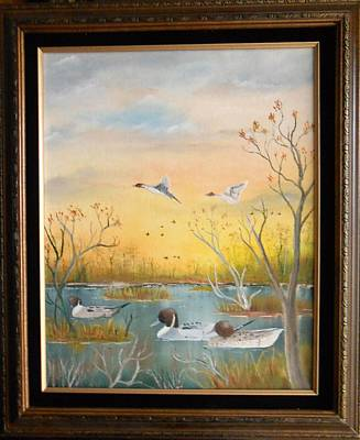 Painting - Northen Pintails by Al  Johannessen