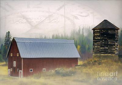 Photograph - Northern Barn by Jean OKeeffe Macro Abundance Art