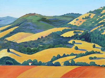 Farm Fields Painting - Northern Callifornia by Gary Coleman