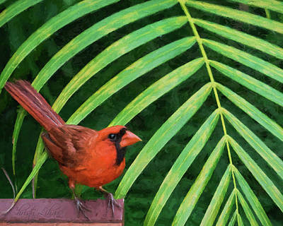 Digital Art - Northern Cardinal by Christina Lihani
