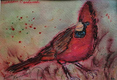 Painting - Northern Cardinal by Ruth Kamenev