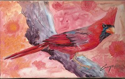 Painting - Northern Cardinal by Victor Cuya