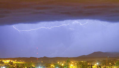 Northern Colorado Rocky Mountain Front Range Lightning Storm  Art Print