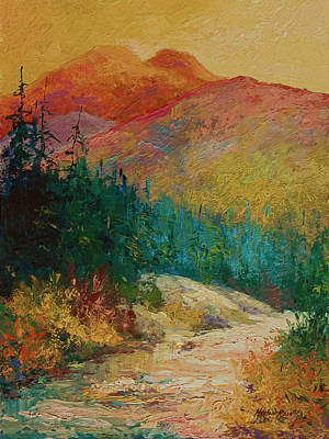 Mountain River Wall Art - Painting - Northern Essence  by Marion Rose
