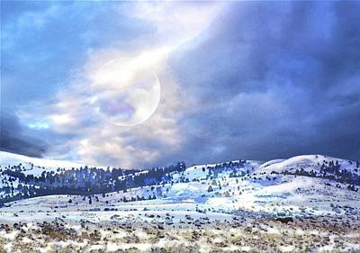 Snow Scene Landscape Mixed Media - Northern Fantasy by Ron Potter