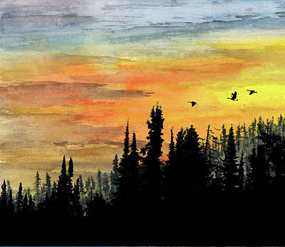 Mixed Media - Northern Gold by R Kyllo