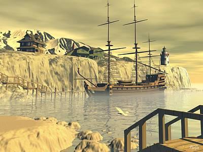 Digital Art - Northern Harbor by John Pangia