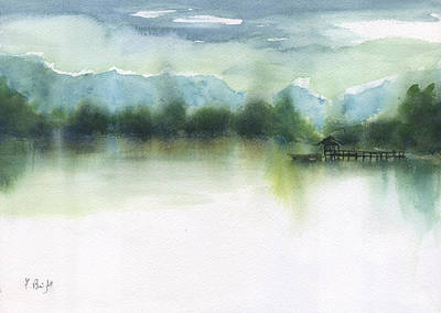Painting - Northern Lake by Frank Bright