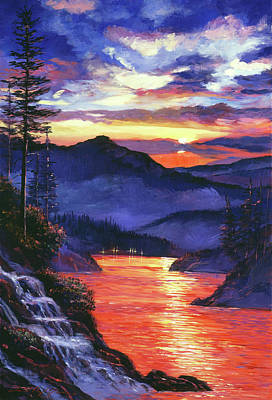 Mountain Royalty-Free and Rights-Managed Images - Northern Lake Nights by David Lloyd Glover