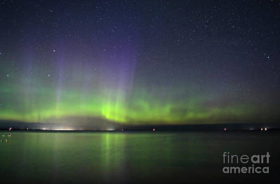 Photograph - Northern Light Green And Purple by Charline Xia